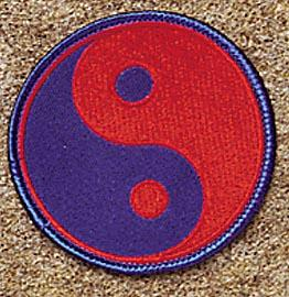 Red and Blue Yin & Yang Patch